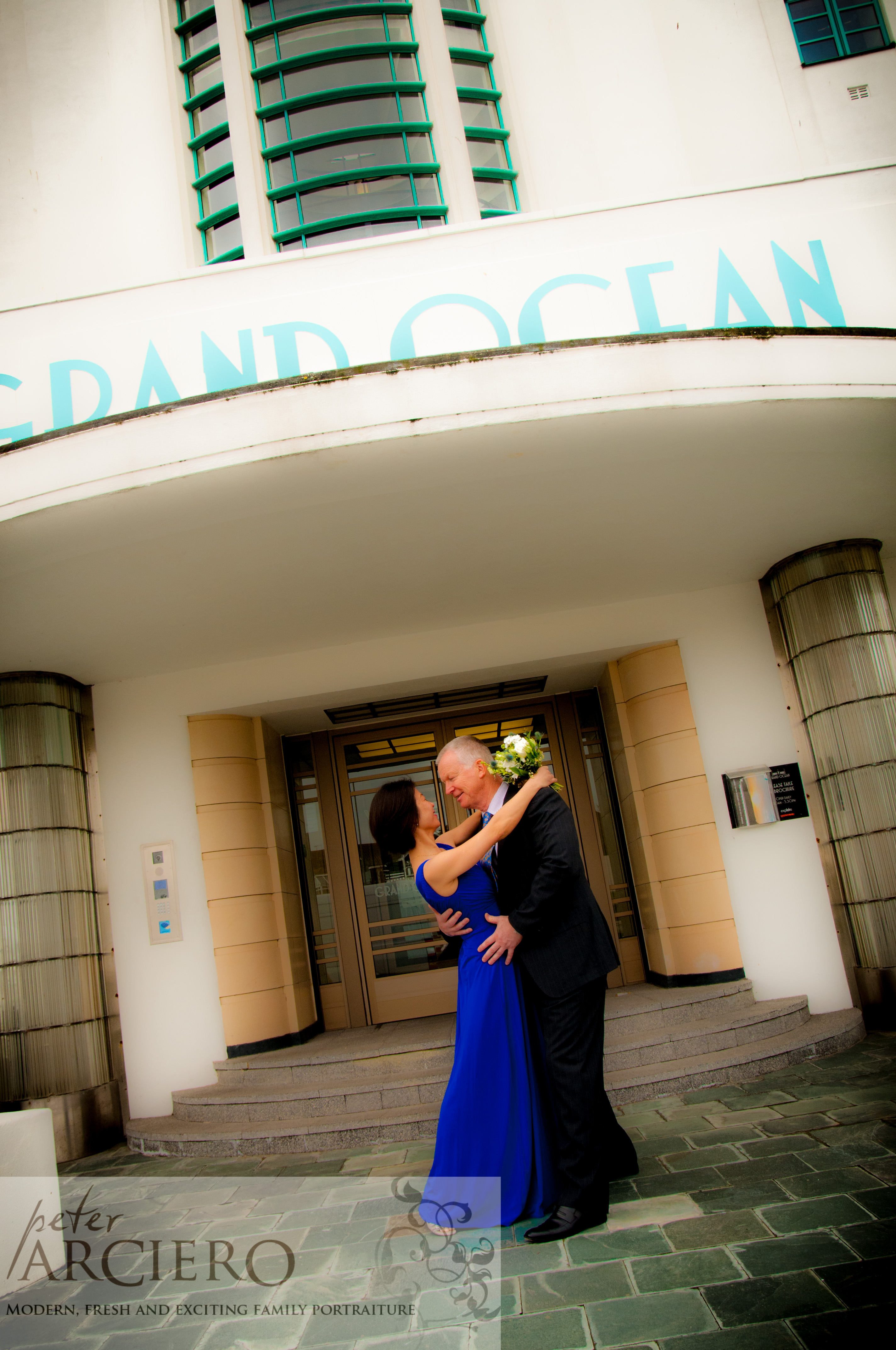 Vintage style wedding photos at the Grand Ocean in Saltdean