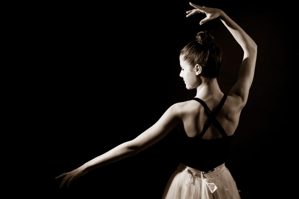 A photo of a ballet dancer -