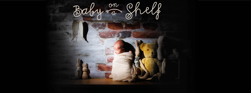 Baby on a Shelf and Baby Photography
